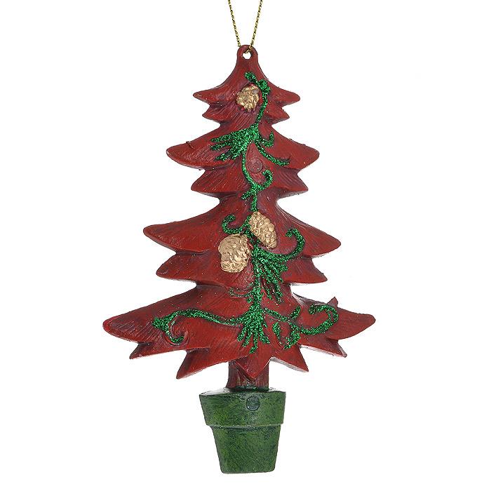 """Оригинальное новогоднее украшение «Елочка» прекрасно подойдет для праздничного декора дома и новогодней ели. Украшение выполнено из пластика в виде елочки и оформлено блестками. С помощью специальной петельки его можно повесить в любом понравившемся вам месте. Но, конечно, удачнее всего такая игрушка будет смотреться на праздничной елке.    Елочная игрушка - символ Нового года. Она несет в себе волшебство и красоту праздника. Создайте в своем доме атмосферу веселья и радости, украшая новогоднюю елку нарядными игрушками, которые будут из года в год накапливать теплоту воспоминаний.  Коллекция декоративных украшений из серии """"Magic Time"""" принесет в ваш дом ни с чем несравнимое ощущение волшебства!   Характеристики:  Материал: пластик, блестки, текстиль. Размер украшения (ДхШхВ): 7,5 см х 2 см х 12 см. Артикул: 25879.  УВАЖАЕМЫЕ КЛИЕНТЫ!  Обращаем ваше внимание на возможные варьирования в цветовом дизайне товара. Поставка осуществляется в зависимости от наличия на складе."""