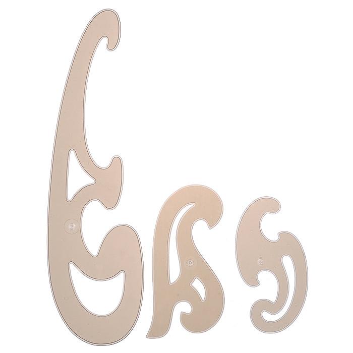 Набор лекал Koh-i-Noor, большой, цвет: коричневый, 3 шт750068Лекало - это чертежный инструмент, который применяется для построения кривых (элипсов, парабол, гипербол, спиралей). Набор лекал Koh-i-Noor включает в себя три лекала К13, К23 и К33. Они выполнены из прозрачного пластика коричневого цвета.Характеристики: Размер большего лекала: 31,5 см х 9 см. Размер меньшего лекала: 13,5 см х 6,5 см.