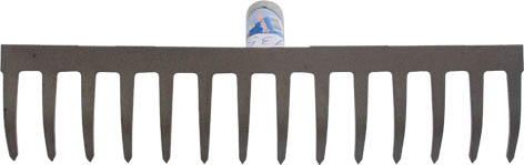 Грабли с прямыми зубьями Калита, без черенка, 16 зубьев, 8,5 см х 42 см