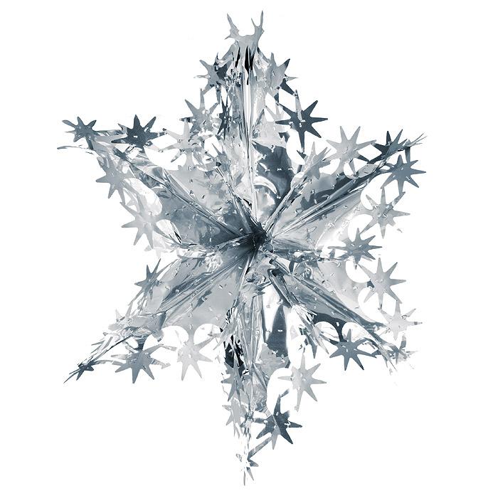 Новогодняя гирлянда Magic Time, цвет: серебристый. 3164231642Новогодняя гирлянда «Magic Time» прекрасно подойдет для декора дома и праздничной елки. Украшение выполнено из металлизированной фольги серебристого цвета в виде звезды. С помощью специальной петельки его можно повесить в любом понравившемся вам месте. Легко складывается и раскладывается.Новогодние украшения несут в себе волшебство и красоту праздника. Они помогут вам украсить дом к предстоящим праздникам и оживить интерьер по вашему вкусу. Создайте в доме атмосферу тепла, веселья и радости, украшая его всей семьей. Коллекция декоративных украшений из серии Magic Time принесет в ваш дом ни с чем несравнимое ощущение волшебства! Характеристики:Материал: металлизированная фольга (ПВХ). Цвет: серебристый. Высота украшения: 54 см. Размер упаковки: 31 см х 20 см х 0,5 см. Артикул: 31642.