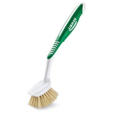 Щетка для овощей Libman, круглая. 0003600036Щетка Libman с мягкой натуральной щетиной, выполнена из пластика. Данная щетка предназначена для очищения овощей, но также она может быть использована для мытья посуды. Щетка устойчива к различным моющим средствам. Она деликатно очищает поверхность, удерживая моющее средство во время мытья посуды. Эргономичная прорезиненная ручка снабжена отверстием для подвешивания. Характеристики:Материал: пластик, натуральная щетина. Цвет: белый, зеленый. Диаметр рабочей части щетки: 5,5 см. Длина щетины: 2,5 см. Общая длина щетки: 24 см. Изготовитель: США. Артикул: 00036.Компания Libman основана в 1896 году выходцем из Латвии Вильемом Либманом, задавшимся целью создавать высококачественные и долговечные изделия для уборки - веники, из сельскохозяйственных отходов и стеблей сорго. Унаследовавшие бизнес, сыновья Вильяма Либмана, не только сохранили компанию во время Великой депрессии, но укрепили и расширили ее. В 1980 году были введены новейшие технологии, позволившие компании стать одной из крупнейших в США по производству уборочного инвентаря.На сегодняшний день Libman - это компания с мировым именем, благодаря высокому качеству и разнообразию уборочного инвентаря, признана потребителями всего мира.