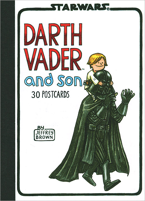 Darth Vader and Son: Postcard Book 30pcs in one postcard owe you a song romantic love christmas postcards greeting birthday message cards 10 2x14 2cm