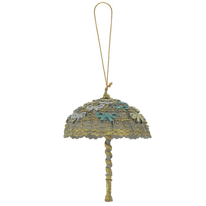 Новогоднее подвесное украшение Зонтик. 2544525445Новогоднее подвесное украшение, выполненное из пластика в виде зонтика с блестками, украсит интерьер вашего дома или офиса в преддверии Нового года. С помощью специальной петельки украшение можно повесить в любом понравившемся вам месте. Но, конечно, удачнее всего такая игрушка будет смотреться на праздничной елке. Оригинальный дизайн и красочность исполнение создадут праздничное настроение. Новогодние украшения всегда несут в себе волшебство и красоту праздника. Создайте в своем доме атмосферу тепла, веселья и радости, украшая его всей семьей. Характеристики:Материал:пластик. Размер украшения:7,5 см х 7,5 см х 10,5 см. Артикул: 25445.