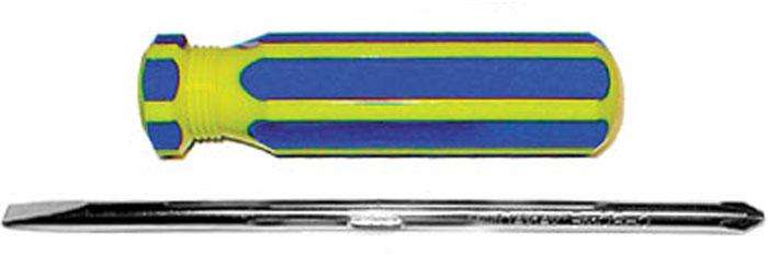 Отвертка с переставным жалом CrV, сине-желтая ручка 6 x 70 мм56218Отвертка FIT предназначена для монтажа/демонтажа резьбовых соединений с применением значительных усилий. Пластмассовая рукоятка устойчива к различным смазочным материалам. Отвертка имеет крестовое жало PH2 и плоское жало SL6. Характеристики: Материал: пластик, металл. Длина отвертки: 16 см. Длина ручки: 9 см. Жало:PH2, SL6.Размер упаковки:21 см х 6 см х 3 см. Артикул:56218.