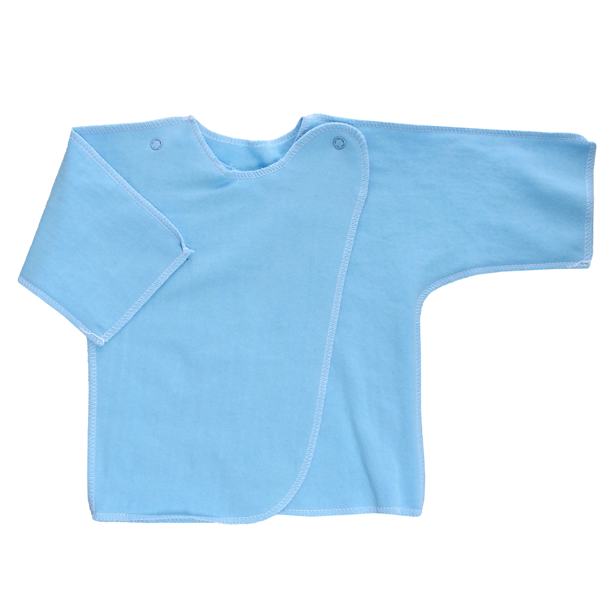 Распашонка Трон-Плюс, цвет: голубой. 5022. Размер 56, 1 месяц5022Распашонка Трон-плюс послужит идеальным дополнением к гардеробу младенца. Распашонка с рукавами-кимоно, выполненная швами наружу, изготовлена из футера - натурального хлопка, благодаря чему она необычайно мягкая и легкая, не раздражает нежную кожу ребенка и хорошо вентилируется, а эластичные швы приятны телу малыша и не препятствуют его движениям. Распашонка с запахом, застегивается при помощи двух кнопок на плечах, которые позволяют без труда переодеть ребенка. Распашонка полностью соответствует особенностям жизни ребенка в ранний период, не стесняя и не ограничивая его в движениях.