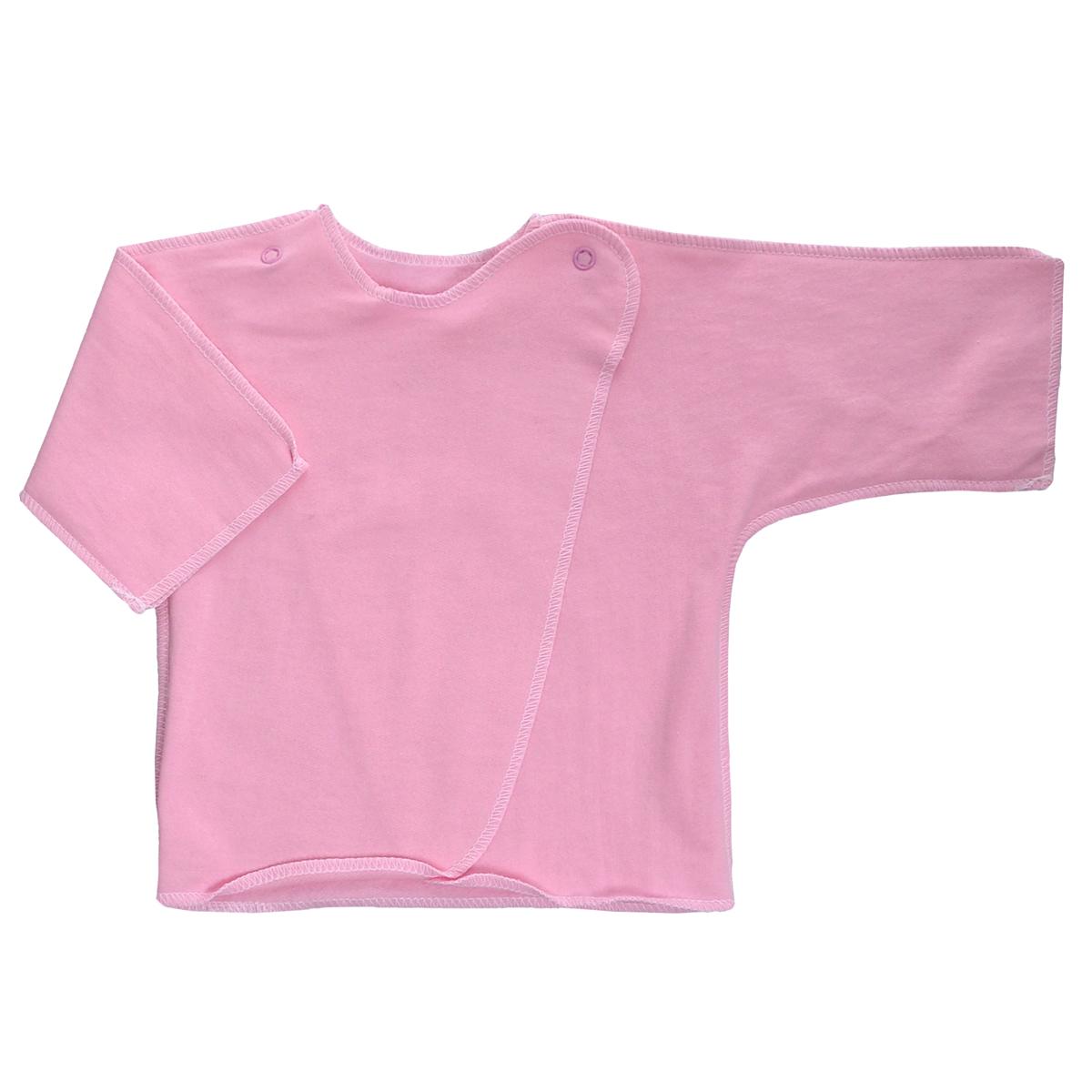 Распашонка Трон-Плюс, цвет: розовый. 5022. Размер 56, 1 месяц5022Распашонка Трон-плюс послужит идеальным дополнением к гардеробу младенца. Распашонка с рукавами-кимоно, выполненная швами наружу, изготовлена из футера - натурального хлопка, благодаря чему она необычайно мягкая и легкая, не раздражает нежную кожу ребенка и хорошо вентилируется, а эластичные швы приятны телу малыша и не препятствуют его движениям. Распашонка с запахом, застегивается при помощи двух кнопок на плечах, которые позволяют без труда переодеть ребенка. Распашонка полностью соответствует особенностям жизни ребенка в ранний период, не стесняя и не ограничивая его в движениях.