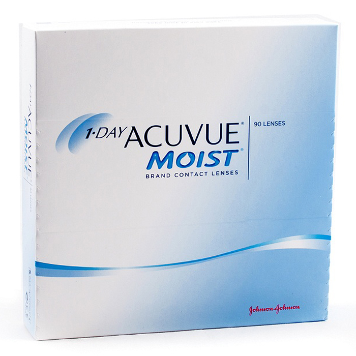 Johnson & Johnson контактные линзы 1-Day Acuvue Moist (90шт / 8.5 / -3.50)
