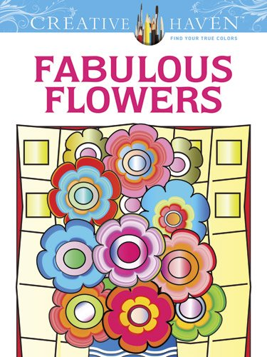 Creative Haven Fabulous Flowers Coloring Book (Creative Haven Coloring Books) coloring of trees