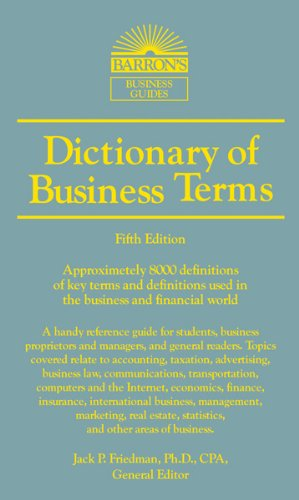 Dictionary of Business and Economics Terms (Barron's Business Dictionaries) handbook of international economics 3