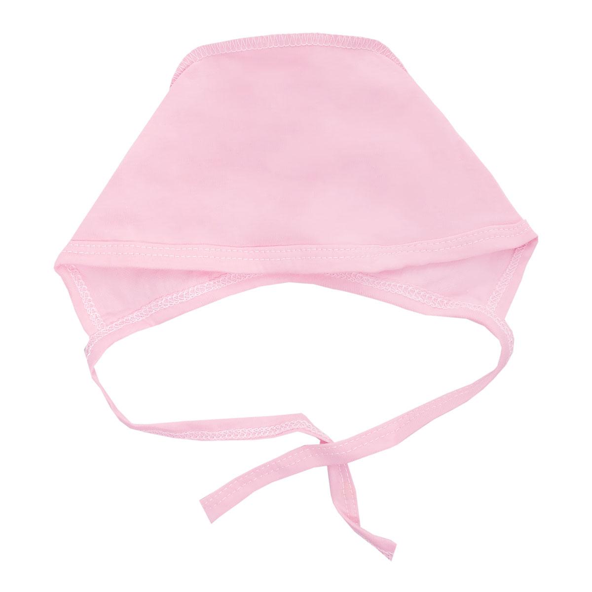 Чепчик унисекс Трон-Плюс, цвет: розовый. 6105. Размер 80, 12 месяцев
