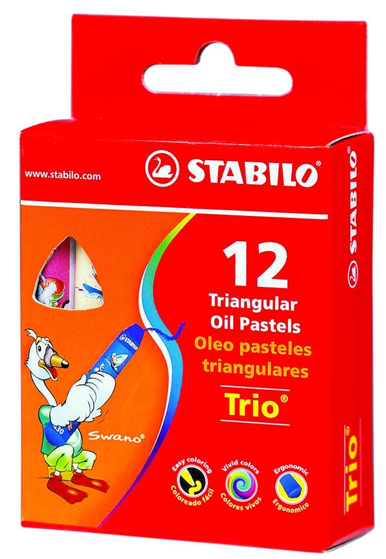 Масляная пастель Stabilo  Trio , 12 цветов -  Мелки и пастель