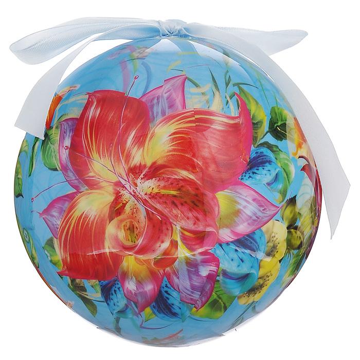 Елочное украшение Шар. Цветы, диаметр 10 см. 2032320323Оригинальное подвесное украшение Шар. Цветы прекрасно подойдет для праздничного декора новогодней ели. Шар, выполненный из пластмассы, украшен красочным изображением цветов. Благодаря плотному корпусу изделие никогда не разобьется, поэтому вы можете быть уверены, что оно прослужит вам долгие годы. С помощью атласной ленточки голубого цвета украшение можно повесить на праздничную елку. Елочная игрушка - символ Нового года. Она несет в себе волшебство и красоту праздника. Создайте в своем доме атмосферу веселья и радости, украшая новогоднюю елку нарядными игрушками, которые будут из года в год накапливать теплоту воспоминаний. Характеристики:Материал: пластмасса (вспененный полистирол), текстиль. Диаметр шара: 10 см. Размер упаковки: 11 см х 11 см х 15 см. Производитель: Россия. Изготовитель: Китай. Артикул: 20323.