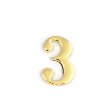 Цифра для обозначения номера квартиры 3, цвет: золотистый67293Цифра 3 для обозначения номера квартиры выполнена из золотистого металла. Устанавливается с помощью липкого слоя, нанесенного на обратную сторону изделия. Характеристики: Материал: металл. Цвет: золотистый. Размер цифры: 2,8 см х 4,3 см х 0,5 см. Размер упаковки: 12 см х 6 см х 0,7 см. Артикул: 67293.