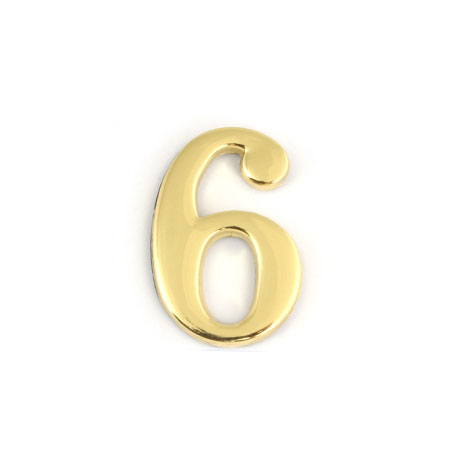 Цифра для обозначения номера квартиры 6, цвет: золотистый67296Цифра 6 для обозначения номера квартиры выполнена из золотистого металла. Устанавливается с помощью липкого слоя, нанесенного на обратную сторону изделия. Характеристики: Материал: металл. Цвет: золотистый. Размер цифры: 2,8 см х 4,3 см х 0,5 см. Размер упаковки: 12 см х 6 см х 0,7 см. Артикул: 67296.