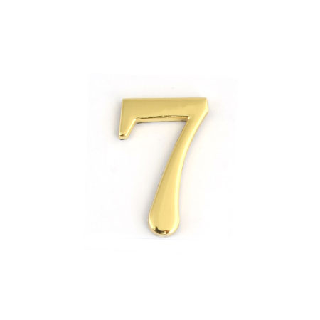Цифра для обозначения номера квартиры 7, цвет: золотистый67297Цифра 7 для обозначения номера квартиры выполнена из золотистого металла. Устанавливается с помощью липкого слоя, нанесенного на обратную сторону изделия. Характеристики: Материал: металл. Цвет: золотистый. Размер цифры: 2,8 см х 4,3 см х 0,5 см. Размер упаковки: 12 см х 6 см х 0,7 см. Артикул: 67297.