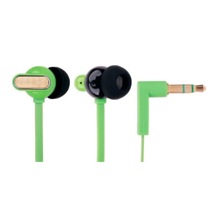 EXEQ HHC-001, Green наушникиHHC-001 GREXEQ HHC-001 - наушники из серии Happy Color удивят меломанов не только своим достойным качеством звучанием, но и потрясающим дизайном с интересным выбором цветов. Благодаря эргономичному дизайну наушники плотно фиксируются в ушной раковине, что заглушает внешние источники звука и увеличивает положительные эмоции от прослушивания. Наушники так же имеют плоский, не спутывающийся 130 см кабель и прочный L-образный штекер с позолоченным 3.5 мм джеком.Яркий дизайн:EXEQ HHC-001 – наушники с потрясающим дизайном и яркой цветовой гаммой. На выбор предлагается четыре варианта цветового исполнения: синий, зеленый, розовый и черный. Яркий насыщенный цвет, плавная обтекаемая форма динамиков и стильная металлическая вставка делают наушники EXEQ HHC-001 поистине стильным и неповторимым аксессуаром для прослушивания музыки. Слушайте любимую музыку и наслаждайтесь внешним видом устройств ее передающих!Качество звука:Наушники EXEQ HHC-001 обеспечивают максимально четкий, громкий и сбалансированный звук. Громкость звука обеспечивают неодимовые магниты и оптимальный размер динамиков в 10 мм. Обладая чувствительностью в 116 Дб/1KHz и частотным диапазоном в 20 Гц- 22000 Гц наушники EXEQ HHC-001 способны воспроизводить четкие звуки даже на самой высокой громкости. Благодаря эргономичной форме наушники плотно фиксируются в ушной раковине и обеспечивают тем самым глубокий и чистый звук без помех. В комплект входят 3 пары сменных амбушюр – каждый сможет подобрать свою идеальную форму наушников.Практичный кабель «лапша»:Наушники EXEQ HHC-001 имеют плоский и гибкий кабель типа «лапша», благодаря специальной форме которого, наушники никогда не запутаются и будут более устойчивы к различным внешним воздействиям (например, передавливание или перекручивание провода во время хранения). Длина кабеля составляет 1,3 м, что является наиболее оптимальным вариантом при активном использовании наушников «вне дома».L-образный штекер и возможности подключения:Наушники 