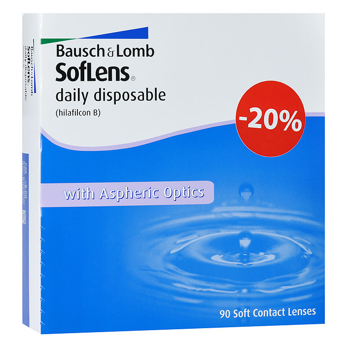Bausch + Lomb контактные линзы Soflens Daily Disposable (90шт / 8.6 / -4.00)