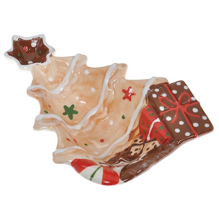 Блюдо Елка, 20 см х 14,5 см х 4,5 смYM121187A/CБлюдо Елка выполнено из высококачественного фаянса. Блюдо изготовлено в форме праздничной елки, украшенной игрушками, подарками и звездой на вершине. Данное блюдо сочетает в себе оригинальный дизайн с максимальной функциональностью. Красочность оформления особенно подойдет для новогоднего торжества. Характеристики: Материал:фаянс. Размер блюда (Д х Ш х В): 20 см х 14,5 см х 4,5 см. Размеры упаковки: 22 см х 13,5 см х 6 см. Артикул: YM121187A/C.