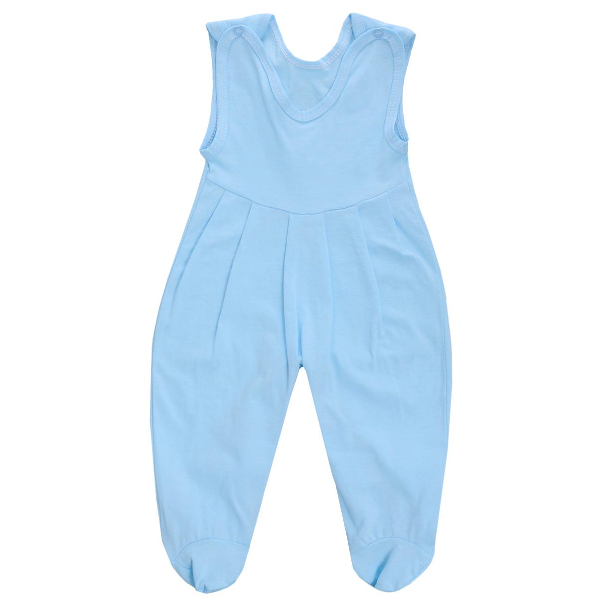 Ползунки с грудкой Трон-плюс, цвет: голубой. 5237. Размер 80, 12 месяцев5237Ползунки с грудкой Трон-плюс - очень удобный и практичный вид одежды для малышей. Они отлично сочетаются с футболками и кофточками. Ползунки выполнены из кулирного полотна - натурального хлопка, благодаря чему они необычайно мягкие и приятные на ощупь, не раздражают нежную кожу ребенка и хорошо вентилируются, а эластичные швы приятны телу младенца и не препятствуют его движениям. Ползунки с закрытыми ножками, застегивающиеся сверху на кнопки, идеально подойдут вашему ребенку, обеспечивая ему наибольший комфорт, подходят для ношения с подгузником и без него. Кнопки на ластовице помогают легко и без труда поменять подгузник в течение дня. От линии груди заложены складочки, придающие изделию оригинальность.Ползунки с грудкой полностью соответствуют особенностям жизни младенца в ранний период, не стесняя и не ограничивая его в движениях!
