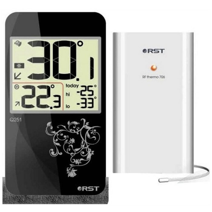 RST02251 цифровой термометр с радиодатчиком в стиле iPhone 42251RST02251 - это оригинальная модель термометра с беспроводным термодатчиком. Дизайн устройства выполнен в модном стиле iPhone с использованием кожаной текстуры. Термометр оснащен системой автоматического контроля за минимальной и максимальной температурой за текущие сутки.