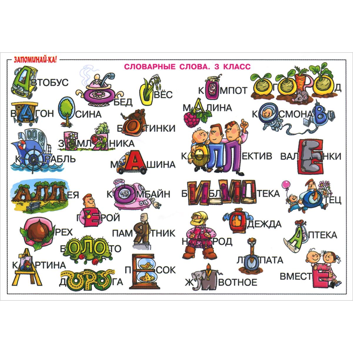 Проект словарные слова в картинках