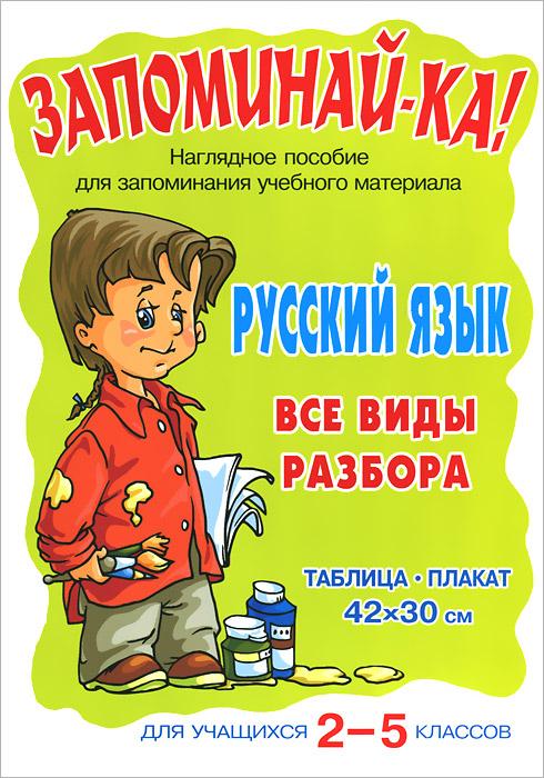 Русский язык. 2-5 классы. Все виды разбора. Плакат тракторный прицеп 1птс 2 или 1птс 2 5