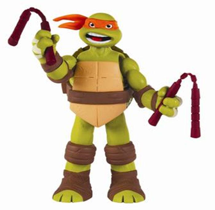 Фигурка Turtles Микеланджело, озвученная, 15 см игровой набор turtles боевое снаряжение черепашки ниндзя микеланджело 4 предмета
