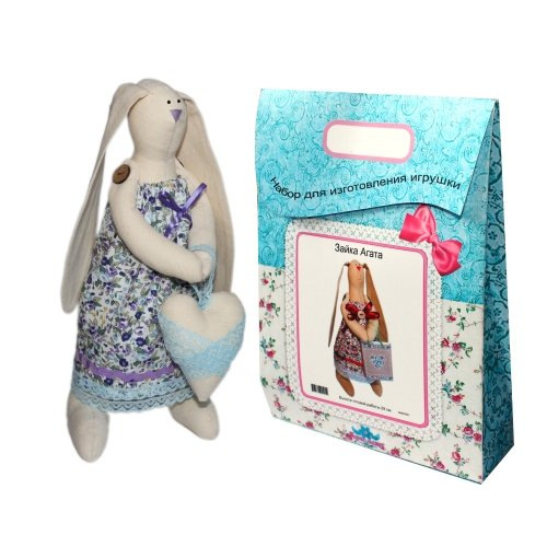 Подарочный набор для изготовления текстильной игрушки Зайка Любава, 29 см подарочный набор для изготовления текстильной игрушки зайка агата 29 см
