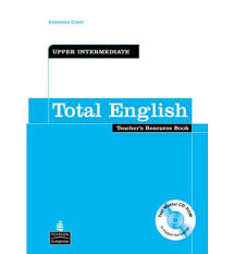 Total English Upper-Intermediate Teacher`s book + CD sketches in lavender blue and green