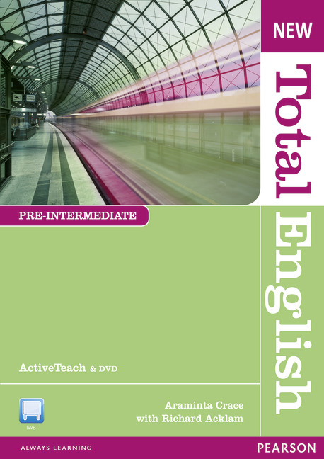 New Total English Pre-Intermediate Level Active Teach total english pre intermediate students book dvd rom