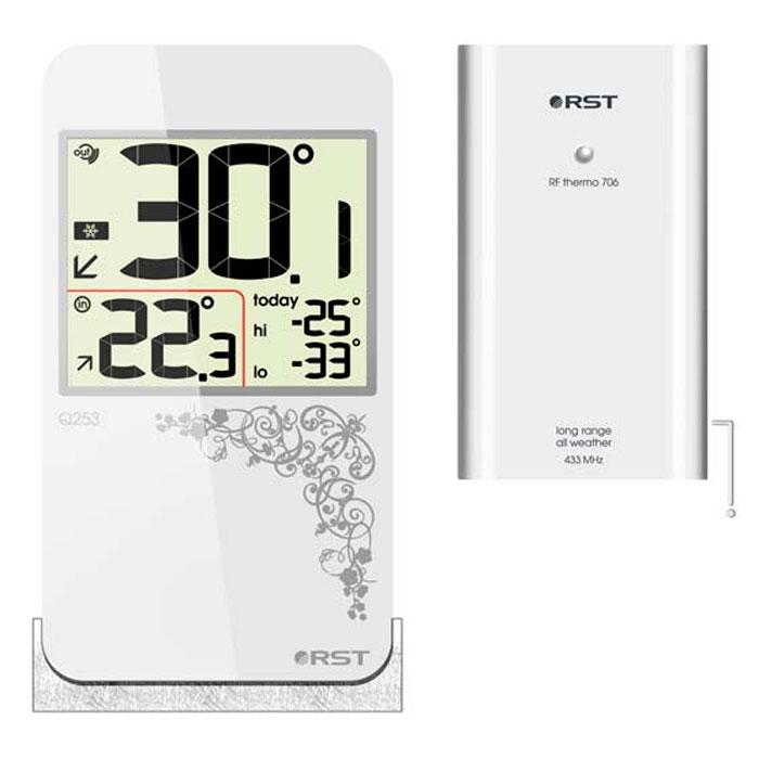 RST02253 цифровой термометр с радиодатчиком в стиле iPhone 42253RST02253 - это оригинальная модель термометра с беспроводным термодатчиком. Дизайн устройства выполнен в модном стиле iPhone с использованием кожаной текстуры. Термометр оснащен системой автоматического контроля за минимальной и максимальной температурой за текущие сутки.