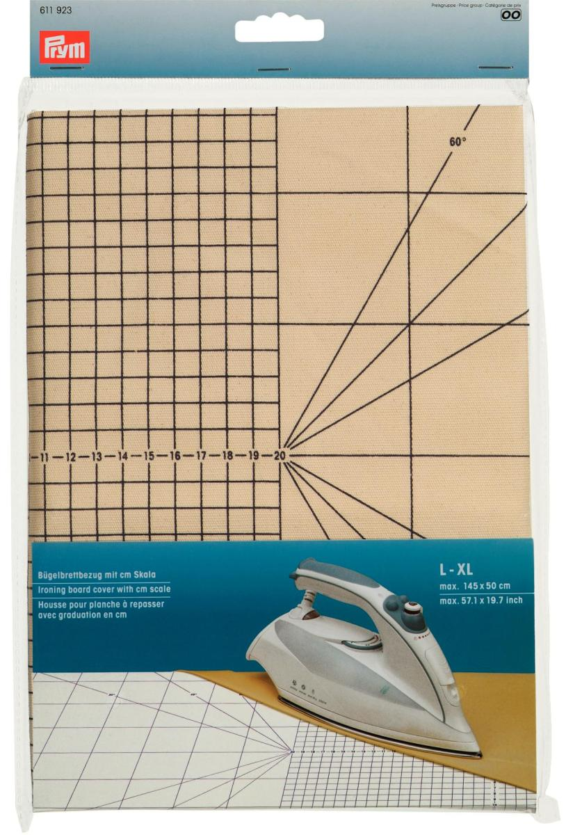 Чехол для гладильной доски Prym с сантиметровой шкалой, размер L-XL611923Чехол для гладильной доски Prym изготовлен из хлопка и фиксируется при помощи затягивающегося шнурка. Имеется специальная сантиметровая шкала. Является профессиональной подложкой для утюжки при рукоделии и особенно при шитье. Характеристики:Материал:хлопок. Размер: 145 см х 50 см Производитель: Германия. Артикул: 611923.