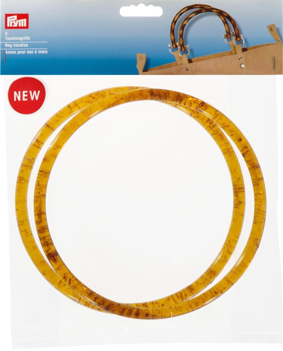 """Ручки для сумок """"Александра"""", пластиковые, диаметр 17 см, цвет: коричневый, Prym"""