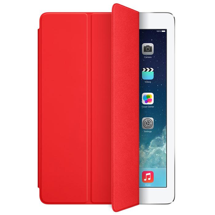 Apple iPad Smart Cover чехол для iPad Air, RedMF058ZM/AЛёгкая и прочная обложка Apple iPad Smart Cover полностью обновлена, чтобы соответствовать дизайну iPad Air. Она защищает дисплей планшета, не закрывая заднюю часть алюминиевого корпуса. Поэтому Ваш iPad выглядит именно как iPad — только он лучше защищён.Обложка изготовлена из мягкого прочного полиуретана и доступна в шести ярких цветах. А её мягкая подкладка из микрофибры того же цвета помогает поддерживать экран в чистоте. Крепление обложки идеально прилегает к корпусу планшета, а магниты надёжно удерживают её. При открытии чехла-обложки iPad Air автоматически выходит из режима сна, а при закрытии моментально возвращается в режим сна.Обложка Smart Cover может служить подставкой для набора текста. Сложите её, чтобы установить iPad Air с удобным наклоном. Продуманная конструкция обложки Smart Cover также позволяет сложить её и превратить в идеальную подставку для общения в FaceTime и просмотра фильмов.