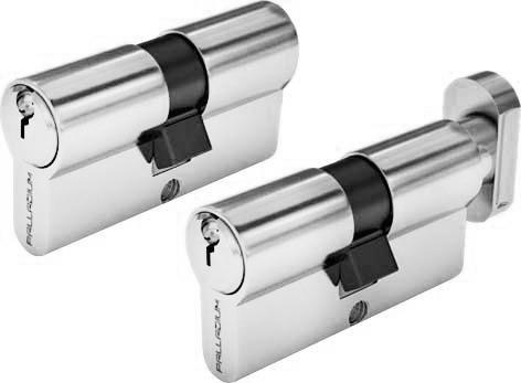 Цилиндровый механизм Palladium Sarento, ключ-ключ, цвет:  хром, 70 мм Palladium / Palladium Sarento