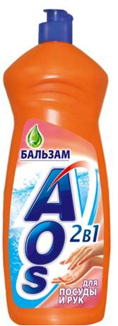 Жидкость для мытья посуды AOS Бальзам, 1 л401-3Жидкость для мытья посуды AOS Бальзам не только эффективно удаляет любые загрязнения даже в холодной воде, но и бережно воздействует на кожу рук. Благодаря новой сбалансированной формуле средство отлично пенится, придает посуде кристальный блеск, после ополаскивания не оставляет разводов. Характеристики: Объем: 1 л. Артикул: 401-3. Товар сертифицирован.