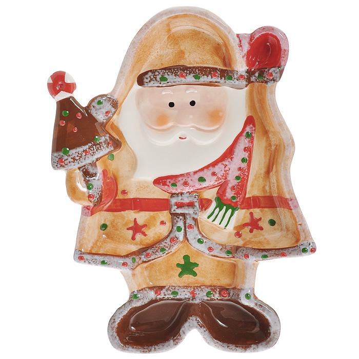Блюдо Дед Мороз, 26 см х 18 см х 3 см блюдо для сосисок larange веселый завтрак с кошечкой 20 5 см х 19 см