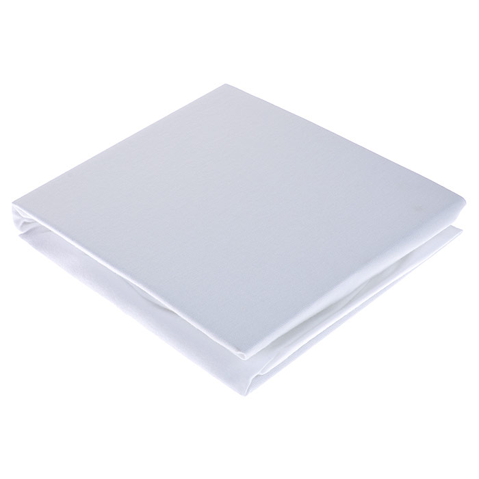 """Простыня """"Hippychick"""", на резинке, непромокаемая, цвет: белый, 60 см х 120 см"""