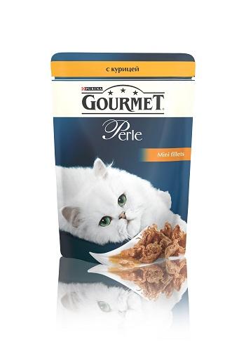 Консервы для кошек Gourmet Perle, мини-филе с курицей, 85 г12222445Ваша кошка - настоящий гурман, и порой ей сложно угодить. Корм Gourmet Perle - это изысканное угощение с превосходным вкусом, которым ваша кошка будет наслаждаться каждый день. Ваш гурман оценит нежнейшие кусочки с мясом или рыбой, приготовленные в аппетитном соусе.Корм Gourmet Perle - изысканное угощение на каждый день.Рекомендации по кормлению: Суточная норма: 3-4 пакетика в день для взрослой кошки (средний вес 4 кг), в два приема.Данная суточная норма рассчитана для умеренно активных взрослых кошек, живущих в условиях нормальной температуры окружающей среды. В зависимости от индивидуальных потребностей кошки норма кормления может быть скорректирована для поддержания нормального веса вашей кошки.Подавайте корм комнатной температуры. Следите, чтобы у вашей кошки всегда была чистая, свежая питьевая вода.Условия хранения: Закрытый пакетик хранить в сухом прохладном месте. После открытия продукт хранить в холодильнике максимум 24 часа. Состав: мясо и продукты переработки мяса (в том числе курицы 4%), экстракт растительного белка, рыба и продукты переработки рыбы, минеральные вещества, сахара, красители, витамины.Добавленные вещества: МЕ/кг: витамин A: 800; витамин D3: 120; витамин Е: 18; мг/кг: железо: 9; йод: 0,2; медь: 0,8; марганец: 1,8; цинк: 15.Гарантируемые показатели: влажность 79,0%, белок 14,0%, жир 2,5%, сырая зола 2,2%, сырая клетчатка 0,5%.Вес: 85 г.Товар сертифицирован.