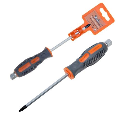 Отвертка крестовая Airline, ударная, РН1 х 100 ммAK-O-02Цельнокованая отвертка Airline изготовлена, из высокоуглеродистой инструментальной. Шестигранный стержень проходит насквозь через двухцветную рукоятку, что позволяет использовать отвертку в качестве ударного инструмента. Имеет магнитный наконечник.Характеристики:Материал: пластик, металл, резина. Длина отвертки: 10 см. Длина ручки: 10 см. Размер упаковки: 20 см х 5 см х 3 см.