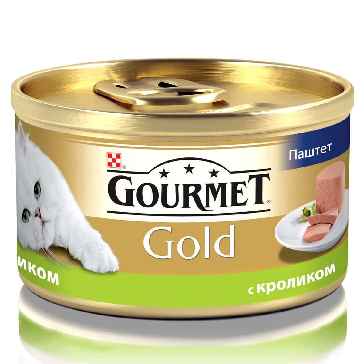 Консервы для кошек Gourmet Gold, паштет с кроликом, 85 г12182548Корм Gourmet Gold консервированный полнорационный для взрослых кошек.Рекомендации по кормлению: кормите кошку 2 раза в день из расчета 4 банки в день. Индивидуальные потребности животного могут отличаться, поэтому норма кормления должна быть скорректирована для поддержания оптимального веса вашей кошки. Для беременных и кормящих - кормление без ограничений.Давайте корм комнатной температуры.Следите, чтобы у вашей кошки всегда была чистая, свежая питьевая вода. Хранить в сухом прохладном месте. Состав: мясо и мясные субпродукты (из которых кролика 4%), минеральные вещества, сахар, витамины, продукты переработки злаков.Гарантируемые показатели: влажность 77,5%, белок 11,0%, жир 7,0%, сырая зола 3,0%, сырая клетчатка 0,01%.Добавленные вещества МЕ/кг: Витамин А: 1640; витамин D3: 255. мг/кг: железо: 11,4; йод: 0,28; медь: 1,0; марганец: 2,2; цинк: 11,3. Вес: 85 г.Товар сертифицирован.