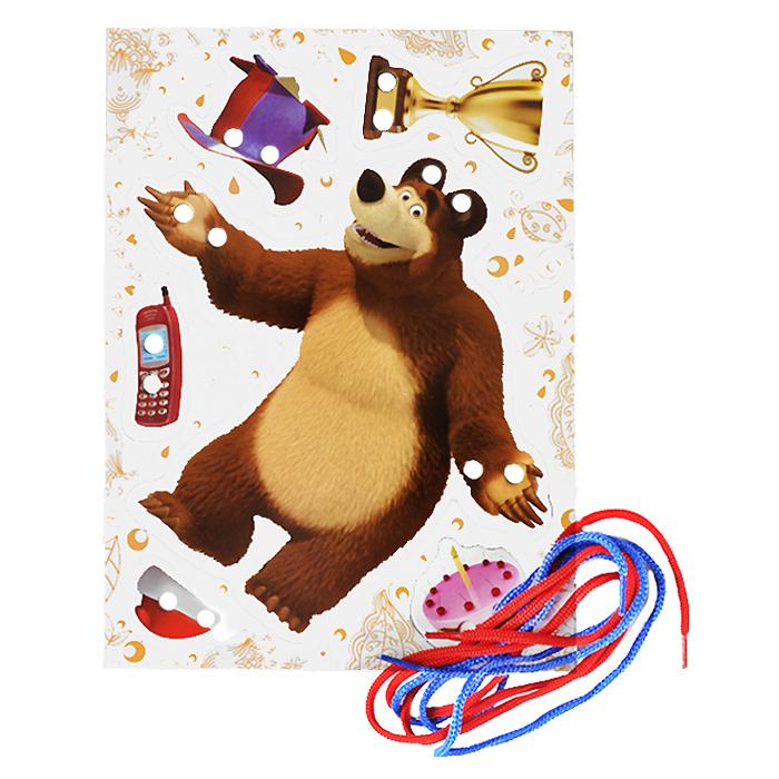 Маша и Медведь. Игра-шнуровка