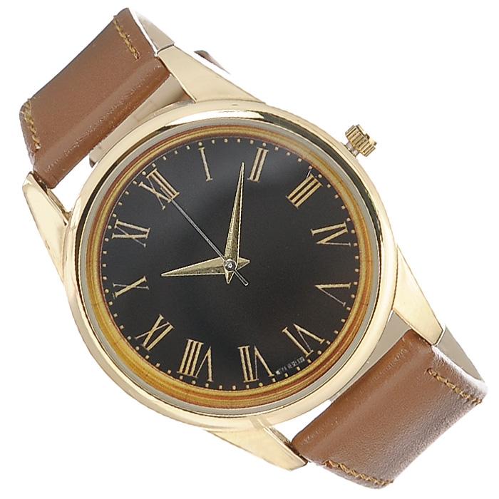 Часы Mitya Veselkov Куранты в золоте (коричневый). Color-47