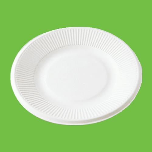 """Набор тарелок """"Gracs"""", биоразлагаемых, цвет: белый, диаметр 21 см, 10 шт"""