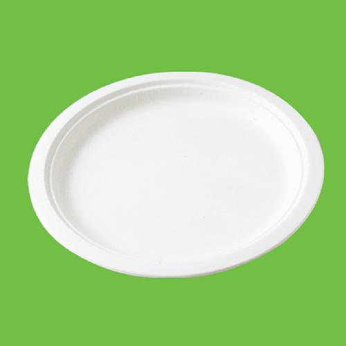 Набор тарелок Gracs, биоразлагаемых, с бортиком, цвет: белый, диаметр 26 см, 10 шт