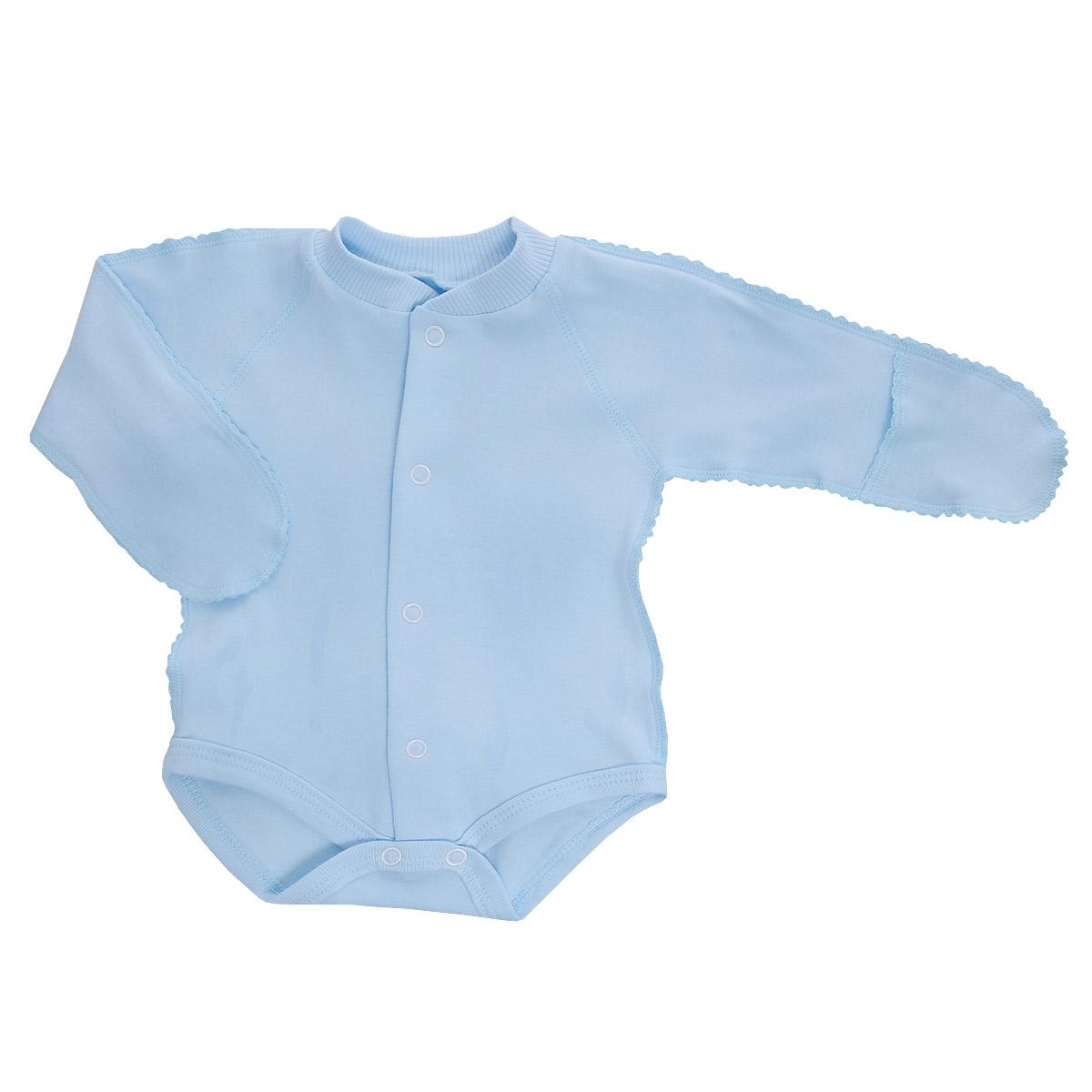 Боди детское Фреш стайл, цвет: голубой. 37-329. Размер 62-20, 3 месяца боди детское hudson baby hudson baby боди цыплёнок 3 шт бирюзово розовый