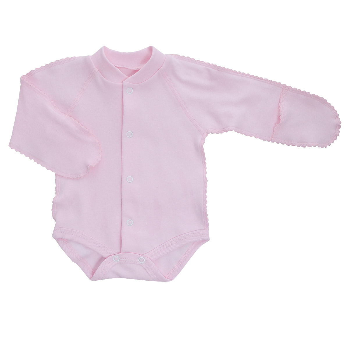 Боди детское Фреш стайл, цвет: розовый. 37-329. Размер 62-20, 3 месяца боди детское hudson baby hudson baby боди цыплёнок 3 шт бирюзово розовый