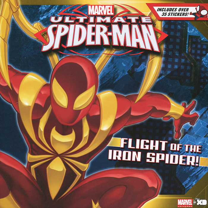 Ultimate Spider-Man: Flight of the Iron Spider! (+ наклейки) пластилин spider man 10 цветов