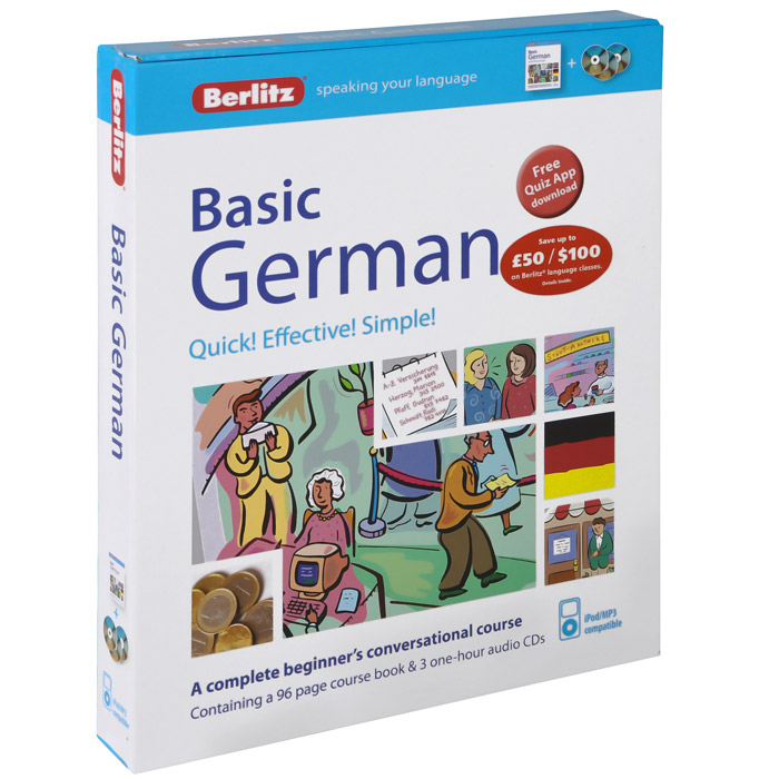 Basic German (+ 3 CD-ROM) freddie s war level 6 advanced book with cd rom and audio cds 3