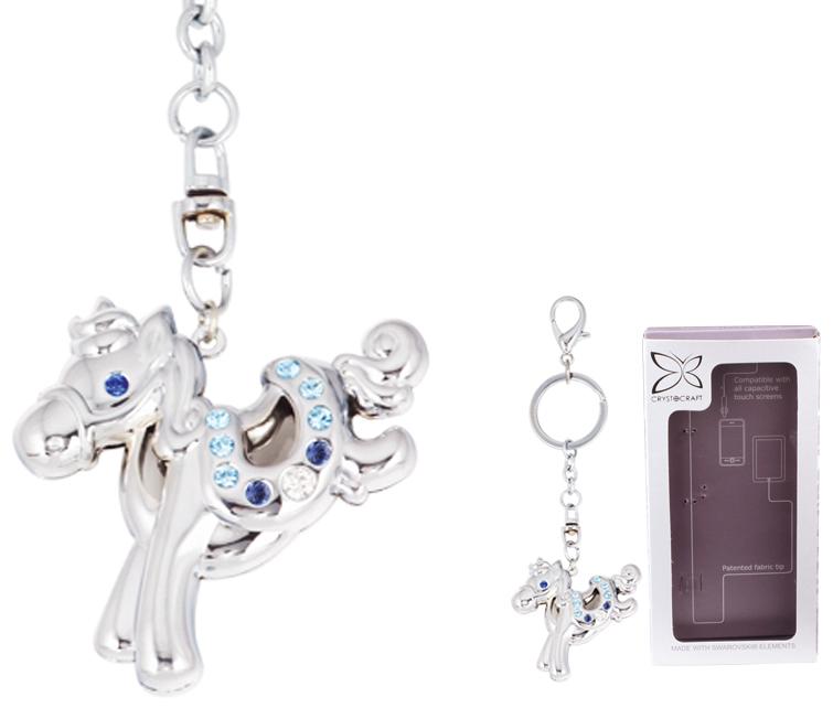 """Брелок """"Crystocraft"""" выполнен из стали серебристого цвета и оформлен подвеской в виде лошадки, инкрустированной синими, голубыми и белыми кристаллами. Кристаллы, украшающие брелок, носят громкое имя  Swarovski. Ограненные, как бриллианты, кристаллы блистают сотнями тысяч различных оттенков.  Стильный брелок Crystocraft """"Лошадка"""" - великолепный аксессуар и милая вещица, которая ни оставит равнодушной ни одну девушку.    Брелок упакован в подарочную коробку.   Характеристики:  Материал: сталь, австрийские кристаллы. Размер подвески: 4,5 см х 5 см. Общая высота брелока (с кольцом): 11,5 см. Размер упаковки: 7,5 см х 14 см х 2,5 см. Артикул: U0401-161-CBLA.   Более чем 30 лет назад компания  """"Crystocraft""""  выросла из ведущего производителя в перспективную торговую марку, которая задает тенденцию благодаря безупречному чувству красоты и стиля.  Компания создает изящные, качественные, яркие сувениры, декорированные кристаллами  Swarovski различных размеров и оттенков, сочетающие в себе превосходное мастерство обработки металлов и самое высокое качество кристаллов.  Каждое изделие оформлено в индивидуальной подарочной упаковке, что придает ему завершенный и презентабельный вид."""